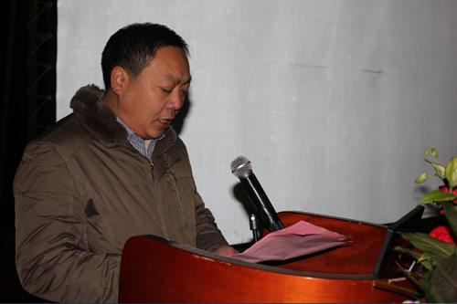 农装公司副总经理李学军主持会议