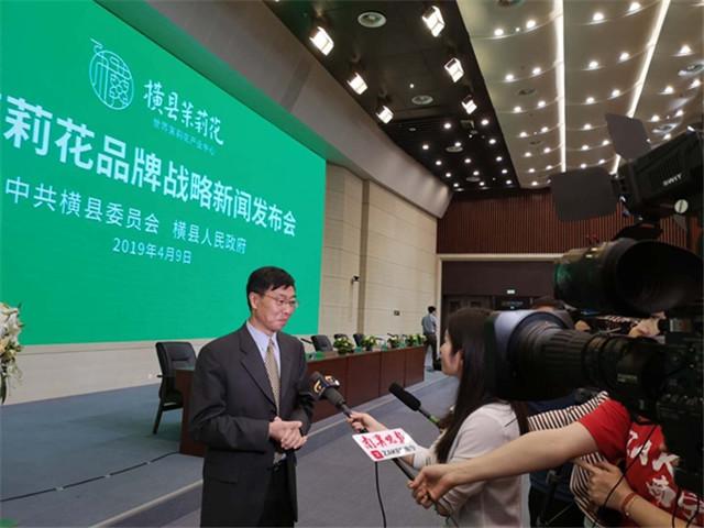 自治区农业农村厅领导出席横县茉莉花品牌战略新闻发布会